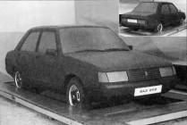 Первый макет автомобиля ВАЗ-2112 - заднеприводный седан, позднее был переименован в ВАЗ-2110